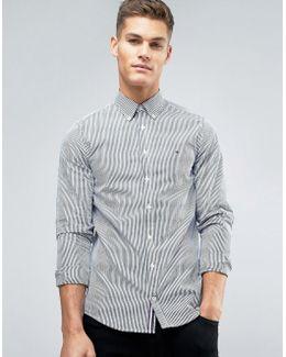Francky Stripe Shirt Buttondown Slim Fit