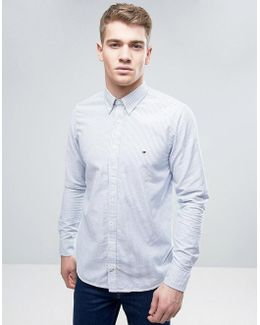 Ithaca Stripe Shirt Oxford Buttondown Slim Fit
