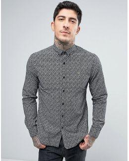 Slim Fit Paisley Shirt In Black