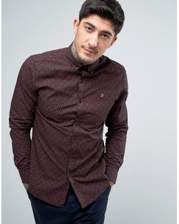 Slim Fit Paisley Shirt In Red