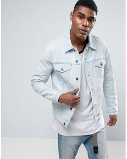Denim Jacket In Extreme Light Wash