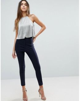 High Waist Pants In Skinny Fit