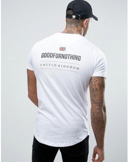 Muscle T-shirt In White With Back Print