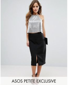 Pencil Skirt With Split Front