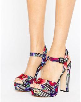 Platform Floral Sandals