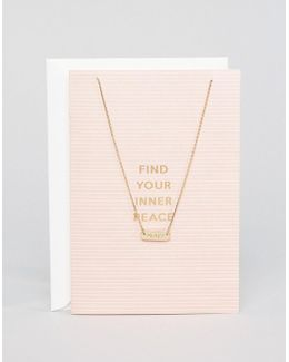 Find Your Inner Peace Necklace Gift Card