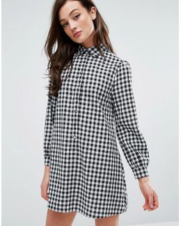 Shirt Dress In Gingham