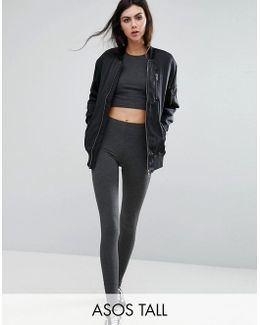 High Waisted Leggings In Charcoal Marl