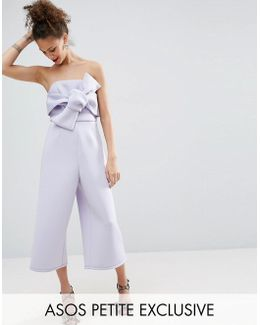 Structured Occasion Bow Jumpsuit