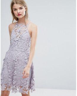Cutwork Lace Skater Dress