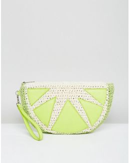 Beach Lime Clutch Bag