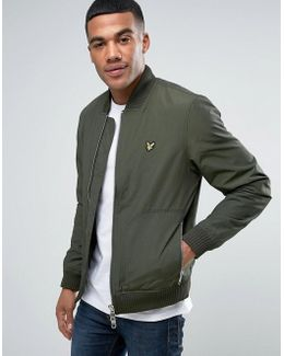 Bomber Jacket Eagle Logo In Green