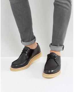Clarks Original Burcott Leather Wedge Shoes