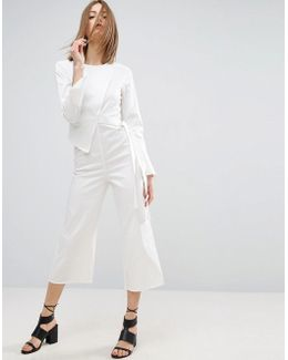 Jumpsuit In Cotton Shirting