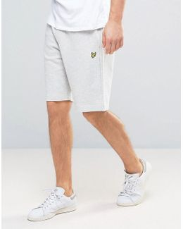 Sweat Shorts Regular Fit Eagle Logo In Grey Marl
