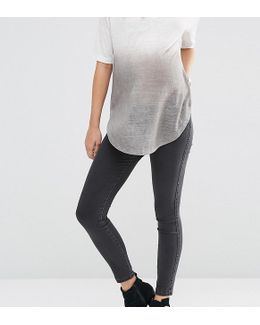 Rivington Jegging In Washed Black With Under The Bump Waistband
