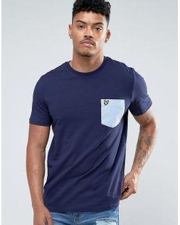 Pocket T-shirt Eagle Logo Regular Fit In Navy