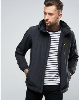 Hooded Zip Through Jacket In Black