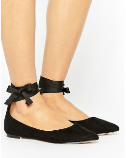 Ankle Tie Pointed Ballet Pump