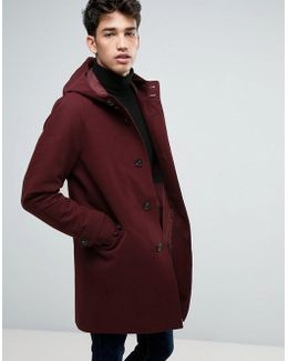 Shower Resistant Smart Jacket In Burgundy