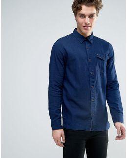 Denim Textured Denim Shirt