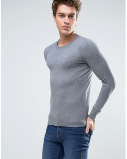 Denim Crew Neck Sweater