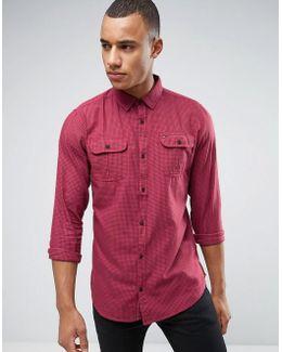 Denim Overdyed Gingham Checked Shirt