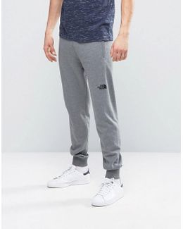 Nse Sweat Pants Slim Fit In Mid Gray Heather