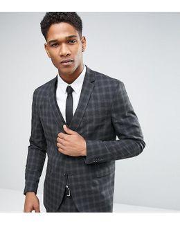 Premium Skinny Suit Jacket In Check