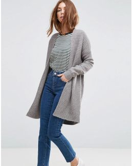 Ribbed Midi Cardigan