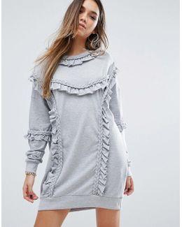 Ruffle Detail Sweat Dress