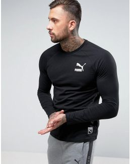 Longsleeved Raglan T-shirt With Archive Logo In Black 572393 01