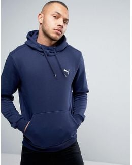 Ess Pull Over Hoodie In Navy 838255 06