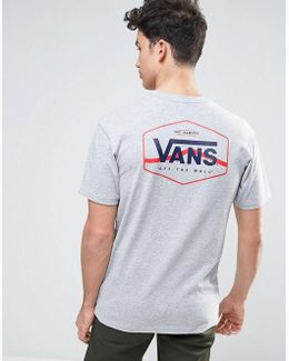 Side Stripe T-shirt In Grey Va312zath