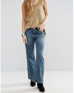 Hopkin High Rise Cropped Flared Jeans