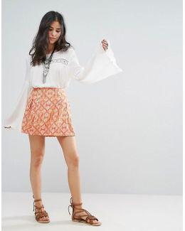 Lovers Lane Printed Mini Skirt