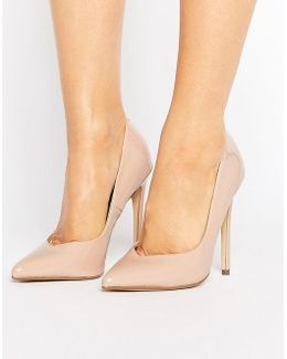 Wicket Blush Heeled Court Shoes