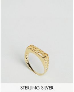 Gold Plated Sterling Silver Vibes Ring