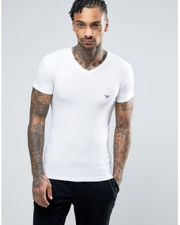 Logo V-neck T-shirt In Muscle Fit