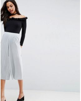 Mixed Pleat Occasion Culottes