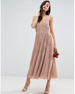 Wedding Cami Strap Embellished Maxi Dress