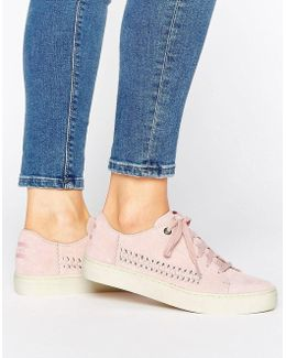 Lenox Pale Pink Suede Trainers