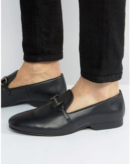 Bar Loafers In Black Leather