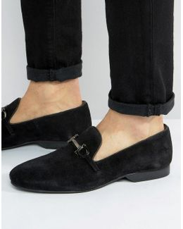 Bar Loafers Black Suede