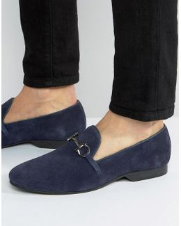 Bar Loafers Navy Suede
