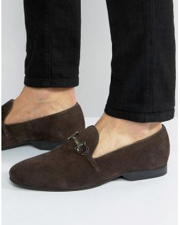 Bar Loafers Brown Suede