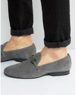 Tassel Loafers Grey Suede