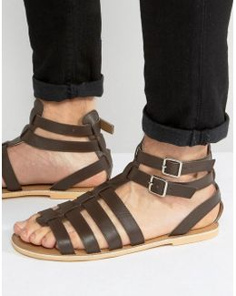 Gladiator Sandals In Brown Leather