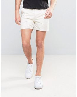 Slim Shorter Chino Shorts In Beige