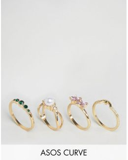 Pack Of 4 Pretty Garden Rings